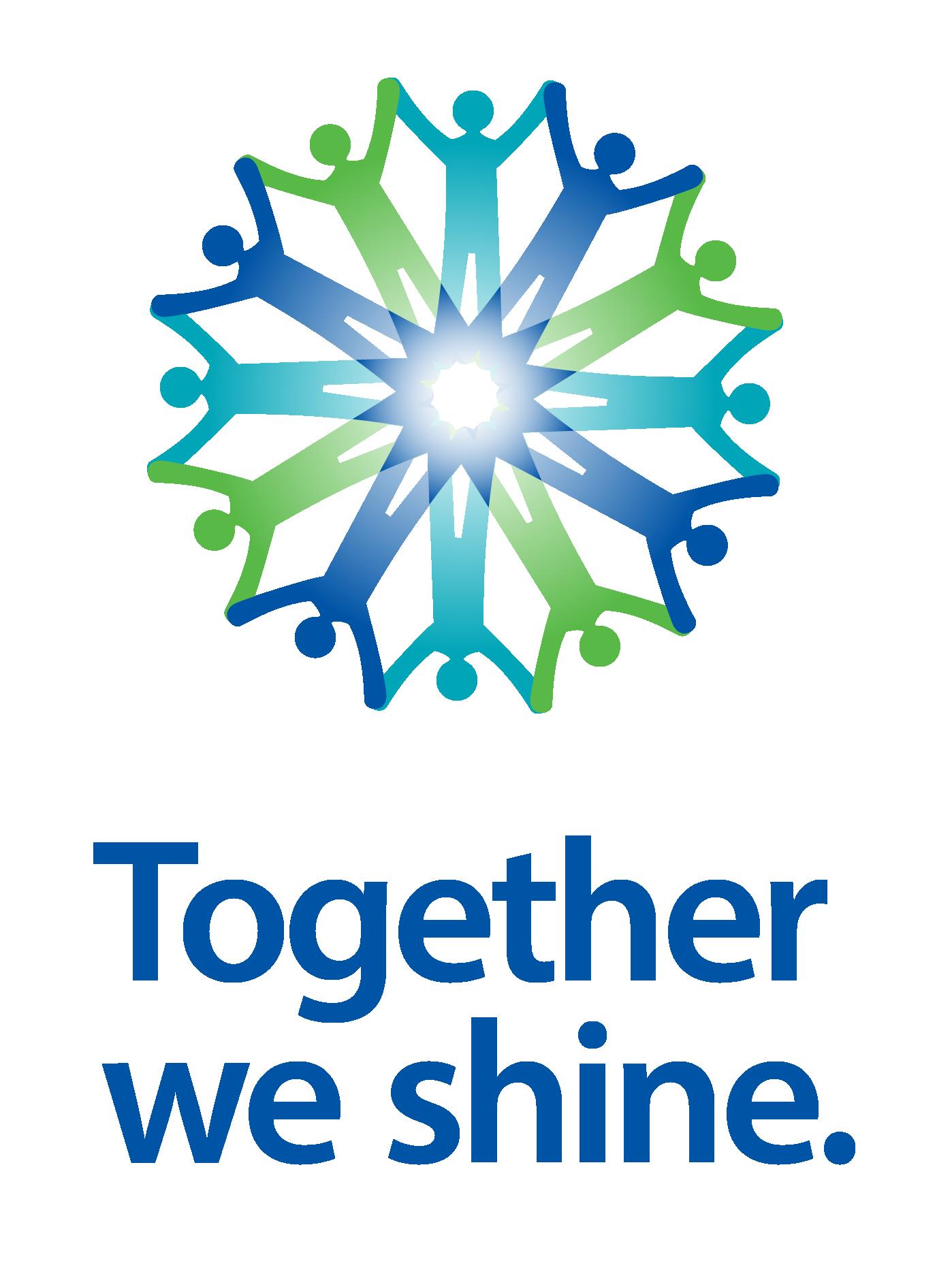 Together we shine vert header